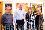Cllr Dan McCarthy opens September Art Exhibition for Danny Long and Mary Mayhew at Carnegie Art Centre in Kenmare on Friday Night. Danny Long, Cllr Dan McCarthy, Mary Mayhew and Máire O'Shea