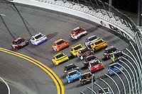 12-13 February, 2016, Daytona Beach, Florida, USA<br /> Denny Hamlin, FedEx Express Toyota Camry races Brad Keselowski for the lead.<br /> ©2016, F. Peirce Williams