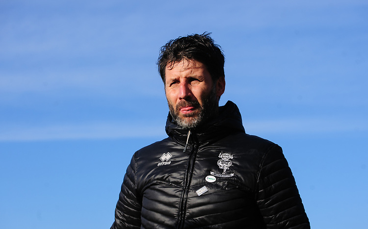 Lincoln City manager Danny Cowley<br /> <br /> Photographer Chris Vaughan/CameraSport<br /> <br /> The EFL Sky Bet League Two - Lincoln City v Northampton Town - Saturday 9th February 2019 - Sincil Bank - Lincoln<br /> <br /> World Copyright © 2019 CameraSport. All rights reserved. 43 Linden Ave. Countesthorpe. Leicester. England. LE8 5PG - Tel: +44 (0) 116 277 4147 - admin@camerasport.com - www.camerasport.com