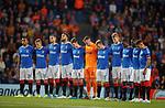 19.09.2019 Rangers v Feyenoord: Rangers team minutes silence for Fernando Ricksen