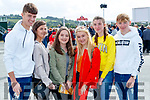 Adam O'Carroll, Clodagh Hannon and Fiona Kelly (Listowel) with Sophie Sugrue (Ballybunion), Dearbhla Cronin (Finuge) and Tom O'Connor (Duagh), enjoying Listowel races on Sunday last.