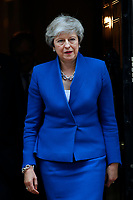 LONDON, ENGLAND - JUNE 04: Prime Minister Teresa May in 10 Downing Street, during the second day of Trump State Visit on June 4, 2019 in London, England. <br /> CAP/GOL<br /> ©GOL/Capital Pictures