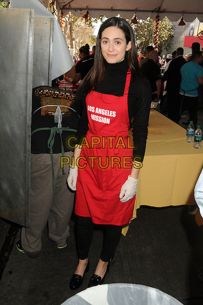 25 November 2015 - Los Angeles, California - Emmy Rossum. 2015 Los Angeles Mission Thanksgiving Meal for the Homeless held at the LA Mission. <br /> CAP/ADM/BP<br /> &copy;BP/ADM/Capital Pictures