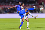 Sandesh Jhingan of India (L) fights for the ball with Mohamed Saad Alromaihi of Bahrain during the AFC Asian Cup UAE 2019 Group A match between India (IND) and Bahrain (BHR) at Sharjah Stadium on 14 January 2019 in Sharjah, United Arab Emirates. Photo by Marcio Rodrigo Machado / Power Sport Images
