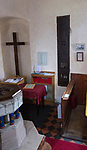 Church of John the Baptist, Barnby, Suffolk, England, UK medieval banner stave locker door