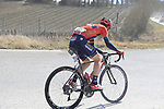 Andrea Garosio (ITA) Bahrain-Merida at the end of sector 3 Radi during Strade Bianche 2019 running 184km from Siena to Siena, held over the white gravel roads of Tuscany, Italy. 9th March 2019.<br /> Picture: Eoin Clarke | Cyclefile<br /> <br /> <br /> All photos usage must carry mandatory copyright credit (&copy; Cyclefile | Eoin Clarke)