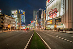 Looking down main street in Akihabara known as Electric Town in Tokyo, Japan