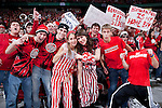 March 3, 2010: Wisconsin Badgers fans cheer during a Big Ten Conference NCAA basketball game against the Iowa Hawkeyes at the Kohl Center on March 3, 2010 in Madison, Wisconsin. The Badgers won 67-40. (Photo by David Stluka)