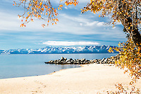 Pretty autumn day at Sand Harbor in Lake Tahoe California
