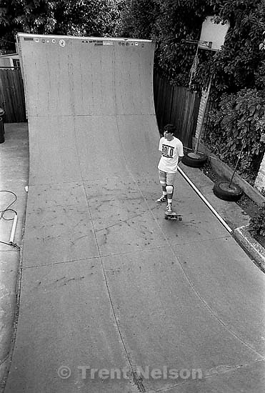 Peter Tisa on skate ramp.<br />