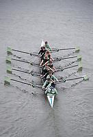 Putney, London,  Tideway Week, Championship Course. River Thames, CUWBC RESERVE CREW,<br /> Wednesday  29/03/2017<br /> [Mandatory Credit; Credit: Peter Spurrier/Intersport Images.com ]