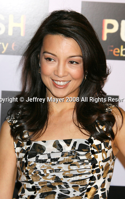 """WESTWOOD, CA. - January 29: Actress Ming Na  arrives at the Los Angeles Premiere of """"Push"""" at the Mann Village Theater on January 29, 2009 in Westwood, California."""