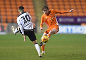 04/12/2018 FA Youth Cup 3rd Round Blackpool v Derby County<br /> <br /> Nathan Shaw control