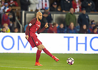 San Jose, Ca - Friday March 24, 2017: John Brooks during the USA Men's National Team defeat of Honduras 6-0 during their 2018 FIFA World Cup Qualifying Hexagonal match at Avaya Stadium.