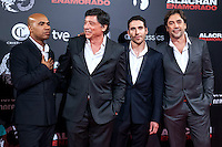 "The cast of ""Alacran Enamorado""during the premiere in Madrid"