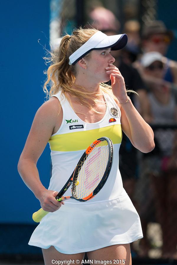 Elina Svitolina (UKR)<br /> <br /> Tennis - Australian Open 2015 - Grand Slam -  Melbourne Park - Melbourne - Victoria - Australia  - 22 January 2015. <br /> &copy; AMN IMAGES