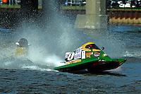 Amanda Hagerl (#4) and Milo Degugas (#83) SST-45 class.Bay City River Roar, Bay City,Michigan USA.26-2821 June, 2009..©F. Peirce Williams 2009 USA.F.Peirce Williams.photography.ref: RAW (.NEF) File Available
