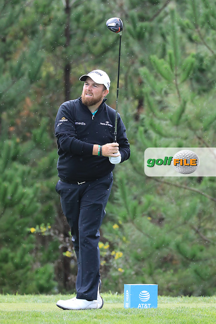 Shane Lowry (IRL) in action at Monterey Peninsula Country Club during the third round of the AT&amp;T Pro-Am, Pebble Beach Golf Links, Monterey, USA. 09/02/2019<br /> Picture: Golffile | Phil Inglis<br /> <br /> <br /> All photo usage must carry mandatory copyright credit (&copy; Golffile | Phil Inglis)