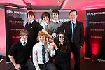 Real Business Challenge 2011.The winning team from St Davids College Llandudno..25.11.11.©Steve Pope