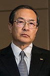 Toshiba Corp President and CEO Masashi Muromachi attends a press conference at the company headquarters on November 27, 2015, Tokyo, Japan. Toshiba announced an accumulated 290 million USD operating loss from its nuclear business subsidiary Westinghouse Electric Co. since 2006, the year that it acquired the American company. Japanese magazine Nikkei Business had reported earlier this month that Toshiba had never disclosed the performance of Westinghouse, prompting this announcement. (Photo by Rodrigo Reyes Marin/AFLO)