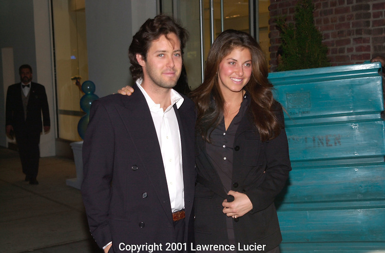 David Lauren and Dylan Lauren arrive at a benefit in Manhattan on October 17, 2001.