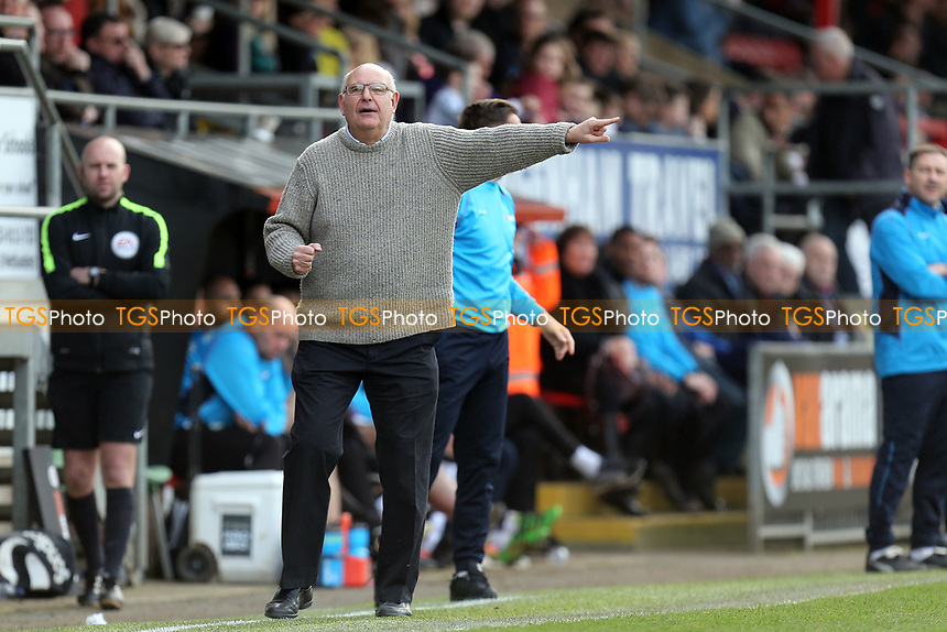 Dagenham manager John Still during Dagenham & Redbridge vs Forest Green Rovers, Vanarama National League Football at the Chigwell Construction Stadium on 11th March 2017