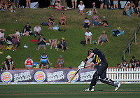 Adam Hose bats during the Burger King Super Smash T20 cricket match between the Wellington Firebirds and Northern Knights at Basin Reserve in Wellington, New Zealand on Saturday, 12 January 2019. Photo: Dave Lintott / lintottphoto.co.nz