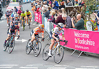Picture by SWpix.com 04/05/2018 - Cycling Asda Women's Tour de Yorkshire - Stage 2 Barnsley to Ilkley - Boels Dolmans Chantal Blaak leads the break through Ilkley.