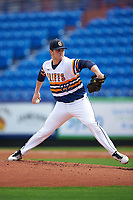 Canisius College Golden Griffins starting pitcher Josh Shepley (22) delivers a pitch during the first game of a doubleheader against the Michigan Wolverines on February 20, 2016 at Tradition Field in St. Lucie, Florida.  Michigan defeated Canisius 6-2.  (Mike Janes/Four Seam Images)
