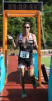 Michael Waraus kommt ins Ziel - Mörfelden-Walldorf 15.07.2018: 10. MöWathlon