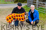 "l-r  Berni white with ""Bia Belle"" and Martin Galvin, Lixnaw. at the Abbeydorney Coursing on Sunday"