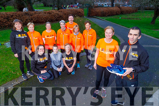 Members of the Born To Run launching their Couch to 5k in the Tralee Town park on Saturday morning.<br /> Front l to r: Elaine O'Connell and David Walsh.<br /> Kneeling l to r: Fiona O'Connor, Sarah Brosnan and Mary Holly.<br /> Standing l to r: Hilda Jones, Kathleen Curtin, Aine Brosnan, Noreen Quirke, Carmel Foran, Tom Dillon and Michelle O'Sullivan.