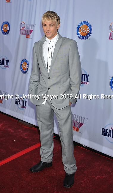 HOLLYWOOD, CA. - October 13: Aaron Carter arrives at the 2009 Fox Reality Channel Really Awards at the Music Box at the Fonda Theatre on October 13, 2009 in Hollywood, California.