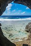 Liku cave & reef flats on the island of Niue