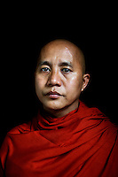 U Wirathu, the controversial Buddhist nationalists monk and spiritual leader of the 969 Movement, poses for a portrait at the New Maesoeyin Monastery in Mandalay. U Wirathu is an abbot in the New Maesoeyin Monastery where he leads about 60 monks and has influence over more than 2,500 residing there. /Felix Features