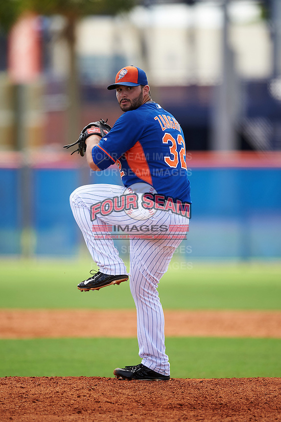 New York Mets pitcher Joseph Zanghi (32) during an Instructional League game against the Miami Marlins on September 29, 2016 at the Port St. Lucie Training Complex in Port St. Lucie, Florida.  (Mike Janes/Four Seam Images)