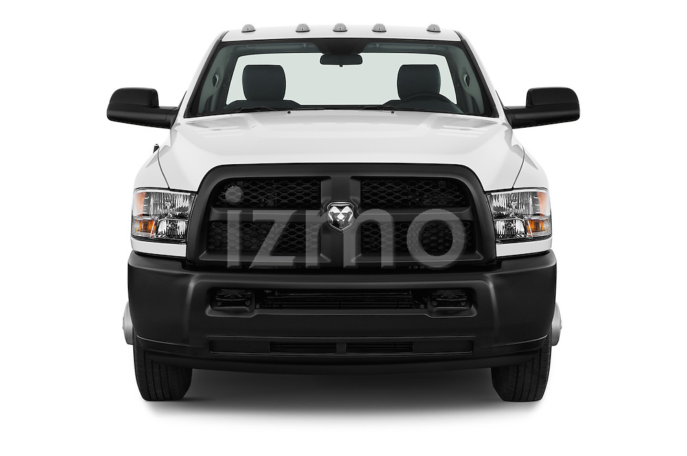 Car photography straight front view of a 2018 Ram Ram-3500-Pickup Tradesman-Regular-cab 4 Door Pick-up Front View
