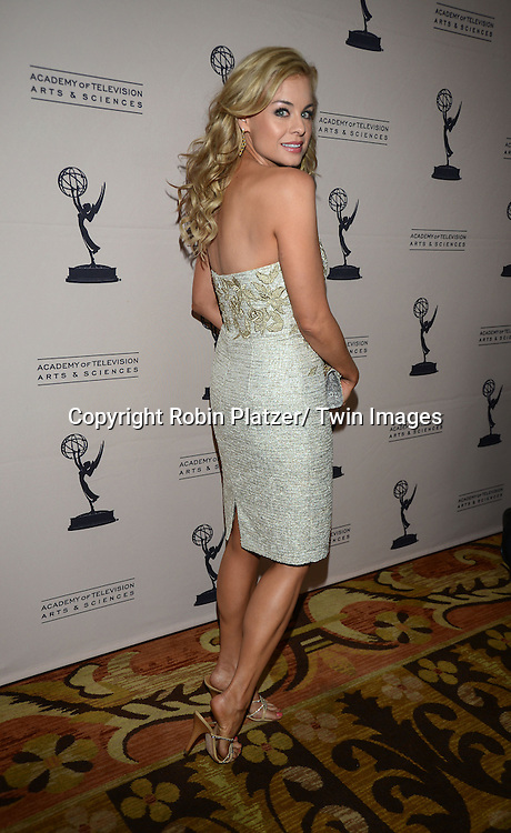 Jessica Collins attends the Academy Of Television Arts & Science Daytime Programming  Peer Group Celebration for the 40th Annual Daytime Emmy Awards Nominees party on June 13, 2013 at the Montage Beverly Hills in Beverly Hills, California.