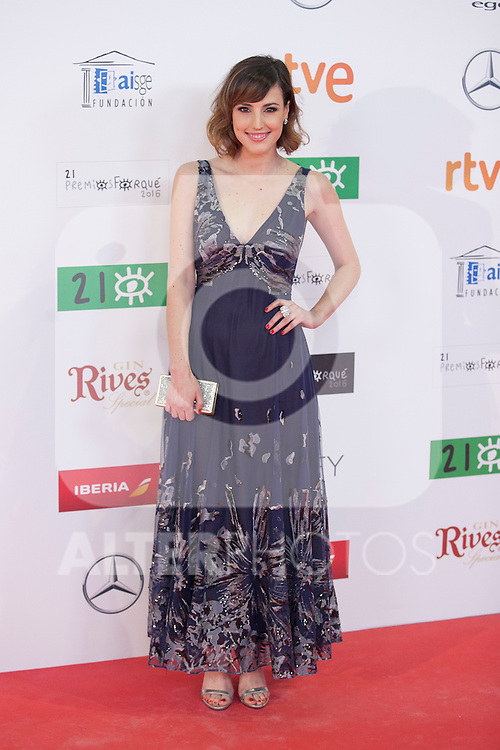 Natalia de Molina attends the 2016 Premios Forque in Madrid, Spain. January 11, 2016. (ALTERPHOTOS/Victor Blanco)