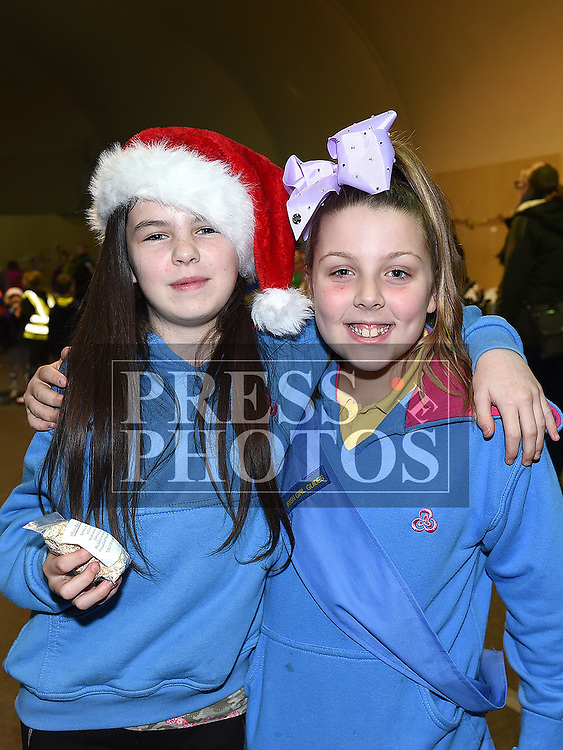 Sophie Kinsella and Katie Connolly at the Boyne RFC Christmas Fair in the Grammar School. Photo:Colin Bell/pressphotos.ie