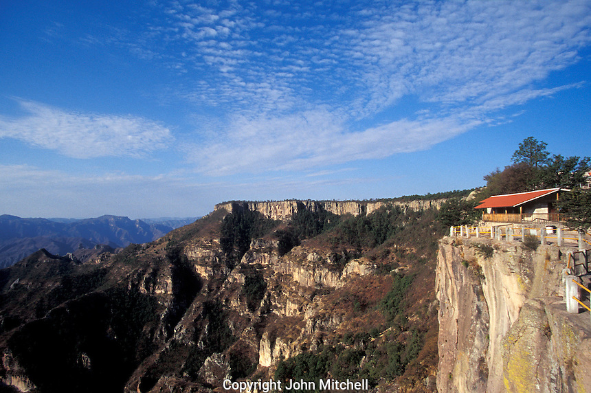 The lookout at Divisadero in the Copper Canyon or Barranca del Cobre, Chihuahua, Mexico