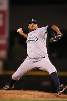 September 4, 2009:  Relief Pitcher Humberto Sanchez of the Scranton Wilkes-Barre Yankees delivers a pitch during a game at Frontier Field in Rochester, NY.  Scranton is the Triple-A International League affiliate of the New York Yankees and clinched the North Division Title with a victory over Rochester.  Photo By Mike Janes/Four Seam Images
