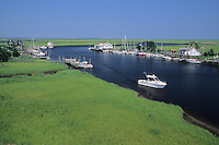 Nactoe Creek, and tidal salt marsh, Edwin Forsythe National Wildlife Refuge, New Jersey