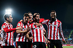 Raul Garcia Escudero of Athletic Club de Bilbao (R2) celebrates after scoring his goal with his teammates during the La Liga 2017-18 match between Getafe CF and Athletic Club at Coliseum Alfonso Perez on 19 January 2018 in Madrid, Spain. Photo by Diego Gonzalez / Power Sport Images