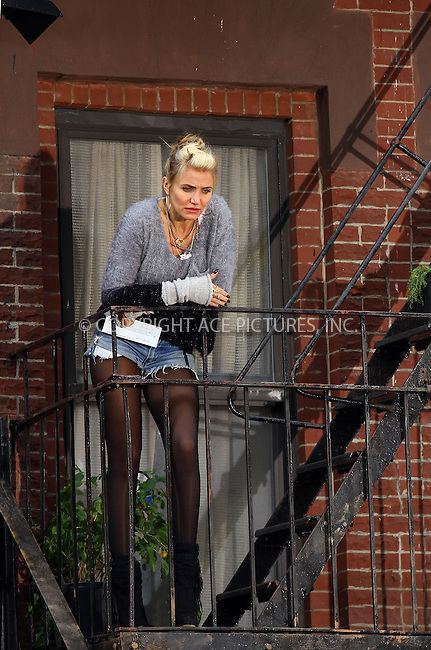WWW.ACEPIXS.COM<br /> <br /> November 12 2013, New York City<br /> <br /> Actress Cameron Diaz on the set of the new movie 'Annie' in Harlem on November 12 2013 in New York City<br /> <br /> By Line: Zelig Shaul/ACE Pictures<br /> <br /> <br /> ACE Pictures, Inc.<br /> tel: 646 769 0430<br /> Email: info@acepixs.com<br /> www.acepixs.com