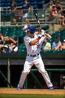 Max Kepler (40) of the Chattanooga Lookouts bats during a game between the Jackson Generals and Chattanooga Lookouts at AT&T Field on May 10, 2015 in Chattanooga, Tennessee. (Brace Hemmelgarn/Four Seam Images)