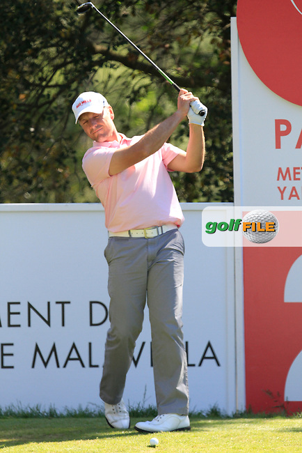 David Higgins (IRL) on the 2nd tee during Thursday's Round 1 of The Open De Espana at The PGA Catalunya Resort. 15th May 2014.<br /> Picture:  Thos Caffrey / www.golffile.ie