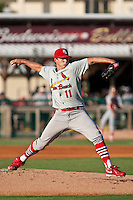 Kevin Thomas of the Palm Beach Cardinals during the game at Jackie Robinson Ballpark in Daytona Beach, Florida on July 27, 2010. Photo By Scott Jontes/Four Seam Images