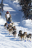 William Pinkham on Long Lake at the Re-Start of the 2012 Iditarod Sled Dog Race