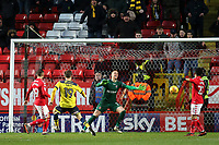 Oxford United's Todd Kane, on loan from Chelsea, scores their second goal during Charlton Athletic vs Oxford United, Sky Bet EFL League 1 Football at The Valley on 3rd February 2018